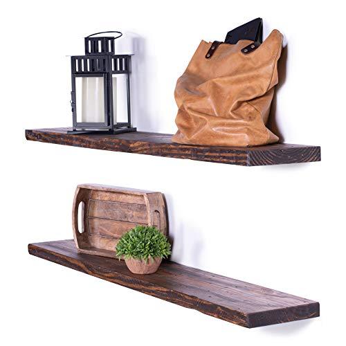 DAKODA-LOVE-8-Deep-Rugged-Distressed-Floating-Shelves-USA-Handmade-Clear-Coat-Finish-100-Countersunk-Hidden-Floating-Shelf-Brackets-Beautiful-Grain-Rustic-Pine-Wood-Set-of-2-48-Bourbon-0