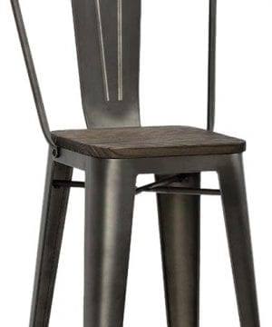 DHP Luxor Metal Counter Stool With Wood Seat Set Of 2 0 300x360
