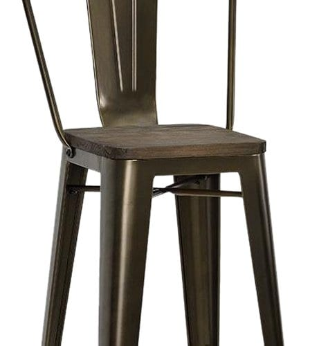 Outstanding Set Of Two 30 White Dhp Luxor Metal Counter Stool With Wood Gmtry Best Dining Table And Chair Ideas Images Gmtryco