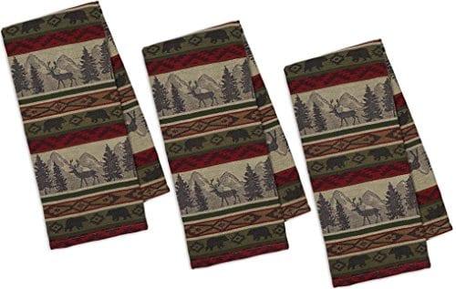DII Back Country Stripe Jacquard Towel Set Of 3 0