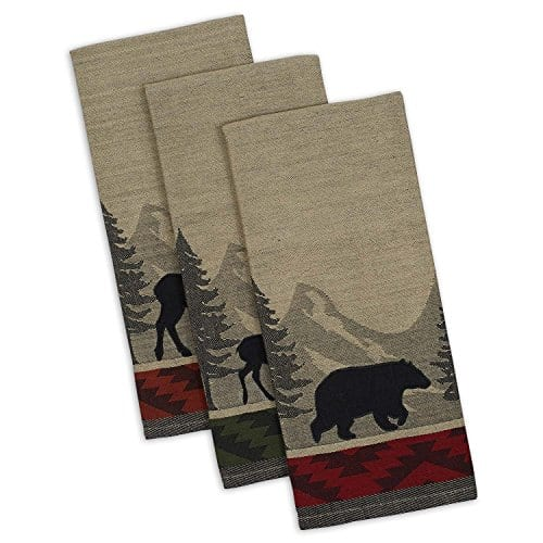 DII Cotton Jacquard Dish Towels 20x28 Set Of 3 Decorative Tea Towels For Everyday Kitchen Cooking And Baking Walk In The Woods 0