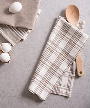 DII Kitchen Dish Towels Brown 18x28 Ultra Absorbent Fast Drying Professional Grade Cotton Tea Towels For Everyday Cooking And Baking Assorted Patterns Set Of 5 0 5 300x360