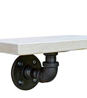 DIY CARTEL Industrial Wall Shelf Mounting Bracket Black Iron Hardware ONLY 0 300x340