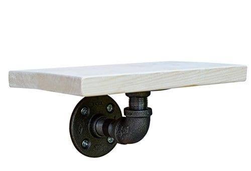 DIY CARTEL Industrial Wall Shelf Mounting Bracket Black Iron Hardware ONLY 0
