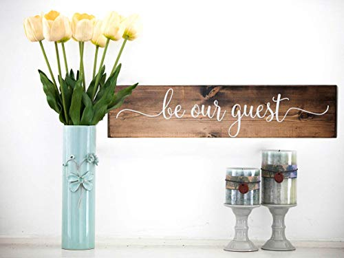 Dark Walnut Be Our Guest Wooden Sign Rustic Farmhouse Wood Handmade Decor 0 0