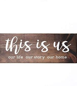 Dark Walnut This Is Us Wood Sign Modern Farmhouse Style Wooden Wall Decor 0 300x333