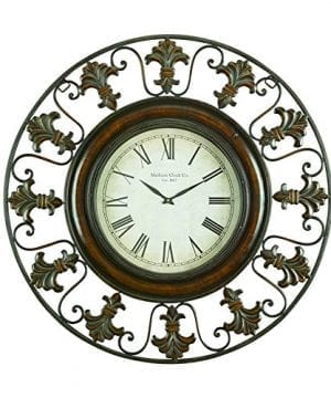 Deco 79 75621 Metal Wall Clock With Round Flower Themed Border 0 300x360