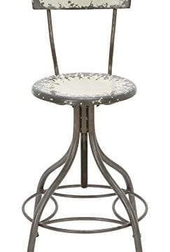 Deco 79 Metal Bar Chair 41 By 18 Inch Industrial Grey With Touch Of Green 0 243x360