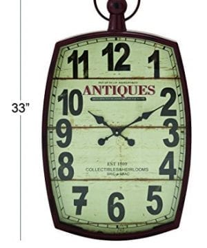 Deco 79 Metal Wall Clock 19 By 33 0 0 300x360
