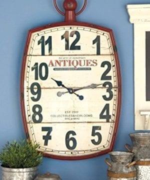 Deco 79 Metal Wall Clock 19 By 33 0 1 300x360