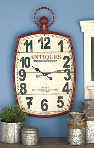 Deco 79 Metal Wall Clock 19 By 33 0 1