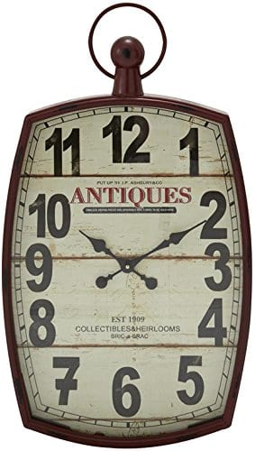 Deco 79 Metal Wall Clock 19 By 33 0