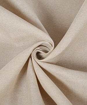 Deconovo Decorative Wrinkle Resistant Linen Look Square Tablecloth For Dining Room 0 0 300x360