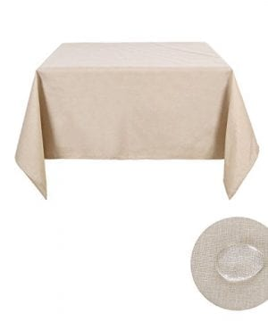 Deconovo Decorative Wrinkle Resistant Linen Look Square Tablecloth For Dining Room 0 1 300x360