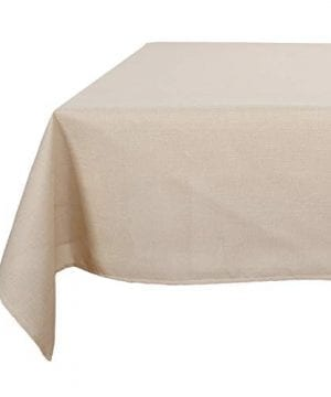 Deconovo Decorative Wrinkle Resistant Linen Look Square Tablecloth For Dining Room 0 300x360