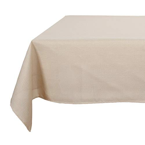 Deconovo Decorative Wrinkle Resistant Linen Look Square Tablecloth For Dining Room 0