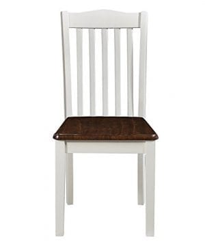 Dorel Living Shiloh 5 Piece Rustic Dining Set Creamy White Rustic Mahogany 0 4 300x360