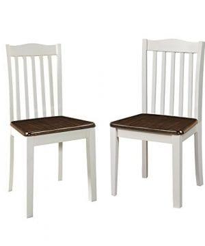 Dorel Living Shiloh Dining Chairs 2 Pack Dark Walnut White 0 0 300x360