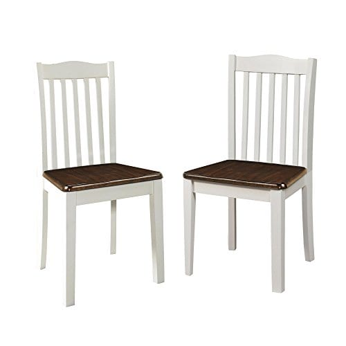 Astounding Dorel Living Shiloh Dining Chairs 2 Pack Dark Walnut White Machost Co Dining Chair Design Ideas Machostcouk