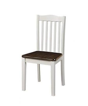 Dorel Living Shiloh Dining Chairs 2 Pack Dark Walnut White 0 2 300x360
