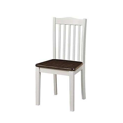 Dorel Living Shiloh Dining Chairs 2 Pack Dark Walnut White 0 2