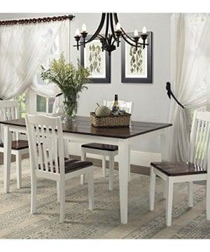 Dorel Living Shiloh Dining Chairs 2 Pack Dark Walnut White 0 3 300x360