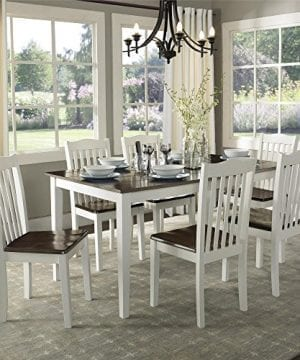 Dorel Living Shiloh Dining Chairs 2 Pack Dark Walnut White 0 4 300x360