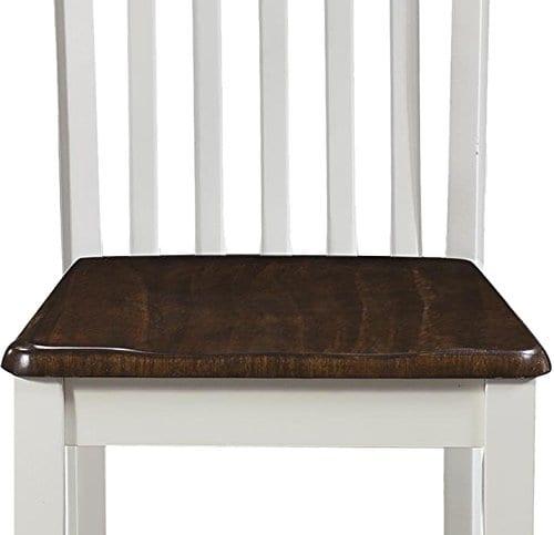 Dorel Living Shiloh Dining Chairs 2 Pack Dark Walnut White 0 5