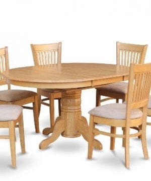 East West Furniture AVVA7 OAK C 7 Piece Dining Table Set 0 300x360