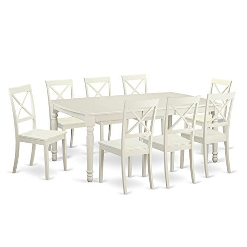 East-West-Furniture-DOBO9-LWH-W-9-Piece-Dining-Room-Table-and-8-Dinette-Chairs-0