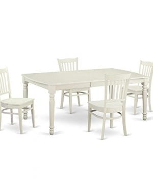 East West Furniture DOGR5 LWH W 5 Piece Dining And 4 Dinette Chairs Small Kitchen Table 0 300x360