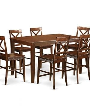 East-West-Furniture-DUQU7H-MAH-W-7-Piece-High-Top-Table-and-6-Kitchen-Bar-Stool-Set-0