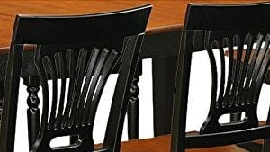 East West Furniture LGPL9 BCH W 9 PC Table Chair Set With One Logan Table 8 Dining Chairs In Black Cherry Finish 0 5 300x169