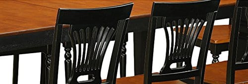 East West Furniture LGPL9 BCH W 9 PC Table Chair Set With One Logan Table 8 Dining Chairs In Black Cherry Finish 0 5