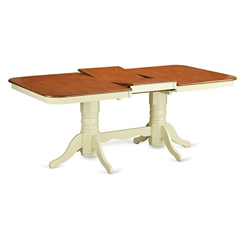 East West Furniture NAAV7 WHI W 7 Piece Dining Table Set 0 1