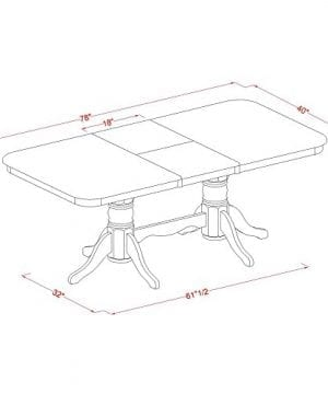 East West Furniture NAAV7 WHI W 7 Piece Dining Table Set 0 3 300x360