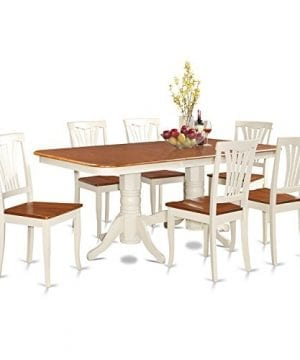 East West Furniture NAAV7 WHI W 7 Piece Dining Table Set 0 300x360