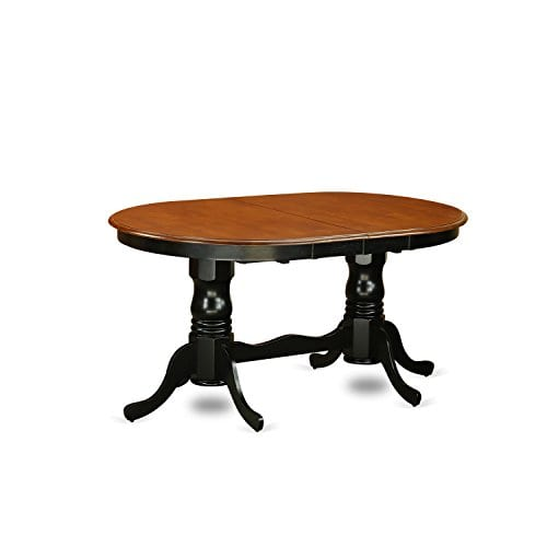 East West Furniture PLAI9 BLK W 9 PC Dining Room Set For 8 Dining Table And 8 Chairs For Dining Room 0 0