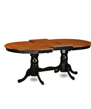 East West Furniture PLAI9 BLK W 9 PC Dining Room Set For 8 Dining Table And 8 Chairs For Dining Room 0 1 300x360