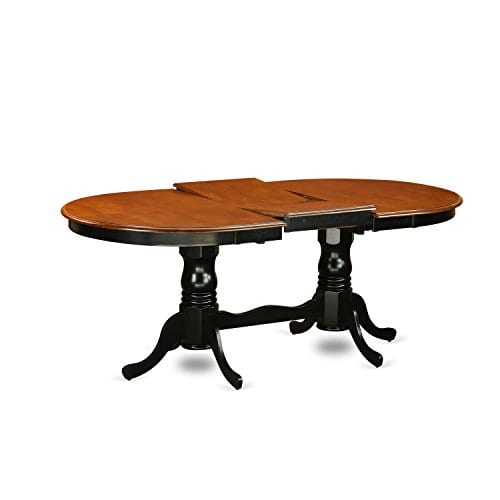 East West Furniture PLAI9 BLK W 9 PC Dining Room Set For 8 Dining Table And 8 Chairs For Dining Room 0 1