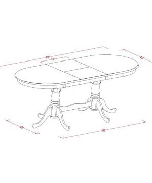 East West Furniture PLAI9 BLK W 9 PC Dining Room Set For 8 Dining Table And 8 Chairs For Dining Room 0 3 300x360