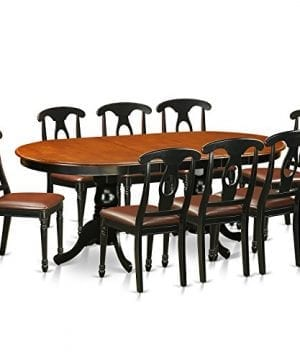 East West Furniture PLKE9 BCH LC 9 Piece Dining Table With 8 Solid Wood Chairs Set 0 300x360