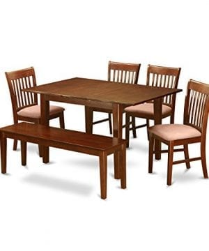 East West Furniture PSNO6C MAH C 6 Piece Dining Table Set 0 300x360