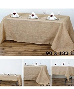 Efavormart Fine Rustic Burlap Rectangle Tablecloth For Wedding Party Banquet Events 0 300x360