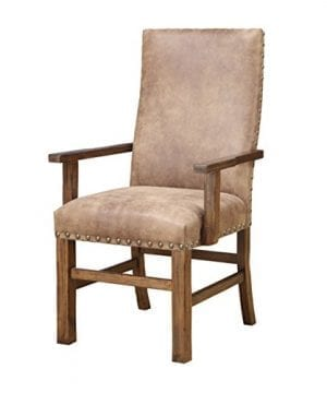 Emerald Home Chambers Creek Brown Upholstered Dining Chair With Arms And Nailhead Trim Set Of Two 0 0 300x360