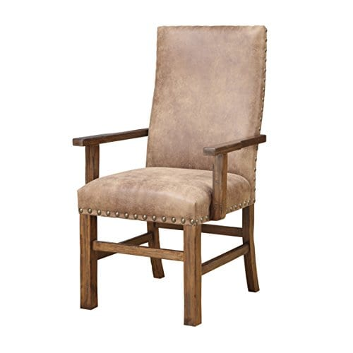Emerald Home Chambers Creek Brown Upholstered Dining Chair With Arms And Nailhead Trim Set Of Two 0 0