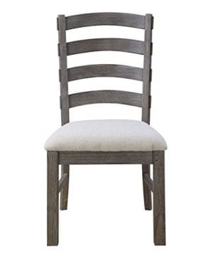 Emerald Home Paladin Rustic Charcoal Gray Dining Chair With Upholstered Seat And Ladder Back Set Of Two 0 0 300x360