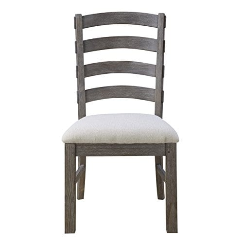 Emerald Home Paladin Rustic Charcoal Gray Dining Chair With Upholstered Seat And Ladder Back Set Of Two 0 0