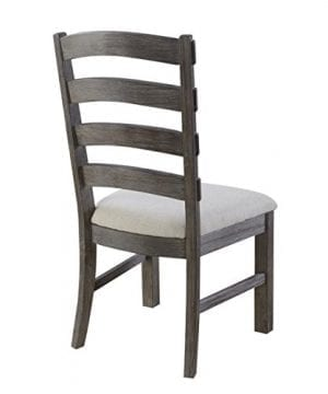 Emerald Home Paladin Rustic Charcoal Gray Dining Chair With Upholstered Seat And Ladder Back Set Of Two 0 2 300x360