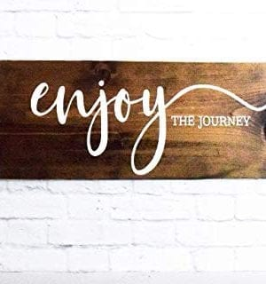 Enjoy The Journey Wood Sign Farmhouse Wooden Quote Wall Decor 0 0 300x320